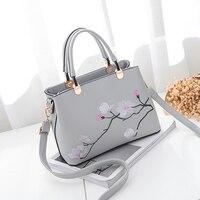 Бесплатная доставка Новый модный бренд женские сумки дамы сумка большая емкость винтажной вышивкой оптовая продажа