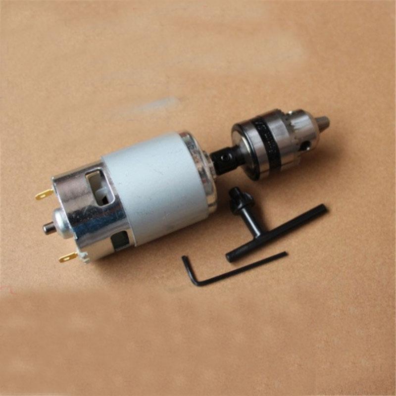 Dc12 24v 0 6 6mm large torque high power motor 775 dc for Power supply for 24v dc motor