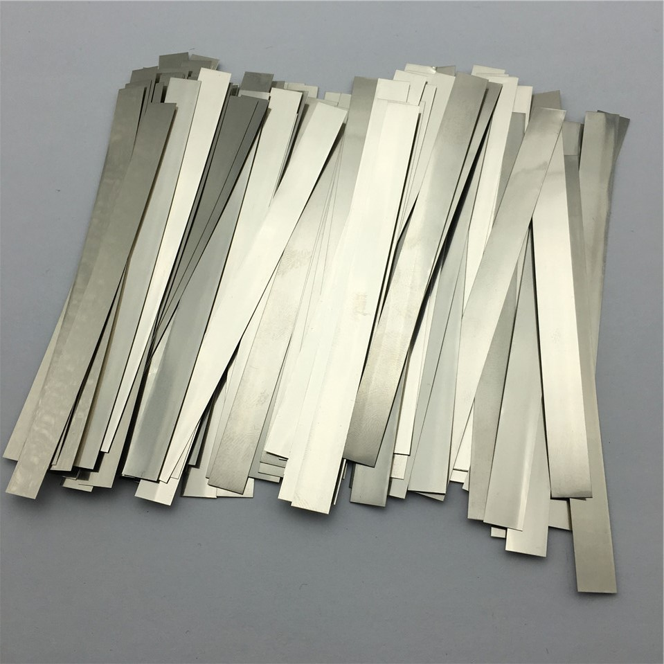 100pcs/lot 0.2mm x 8mm x 100mm Quality low resistance 99.96% pure nickel Strip Sheets for battery spot welding machine 100pcs lot 0 15mm x 12mm x 100mm quality low resistance 99 96