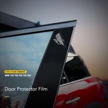 6 шт. Автомобильная дверь BC столбы колонка декоративная наклейка на окна отделка Защитная пленка для MINI Cooper F54 F55 F60 R60 автомобильные аксессуары