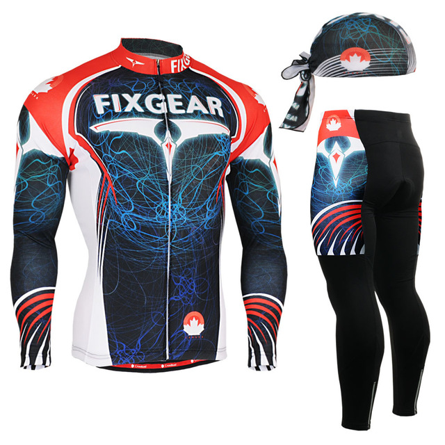 ФОТО Life on Track  men Cycling Jersey Set Long Sleeve Jacket Pants Breathable 3D Gel Clothing MTB Road Bike Bicycle Cycling Jersey