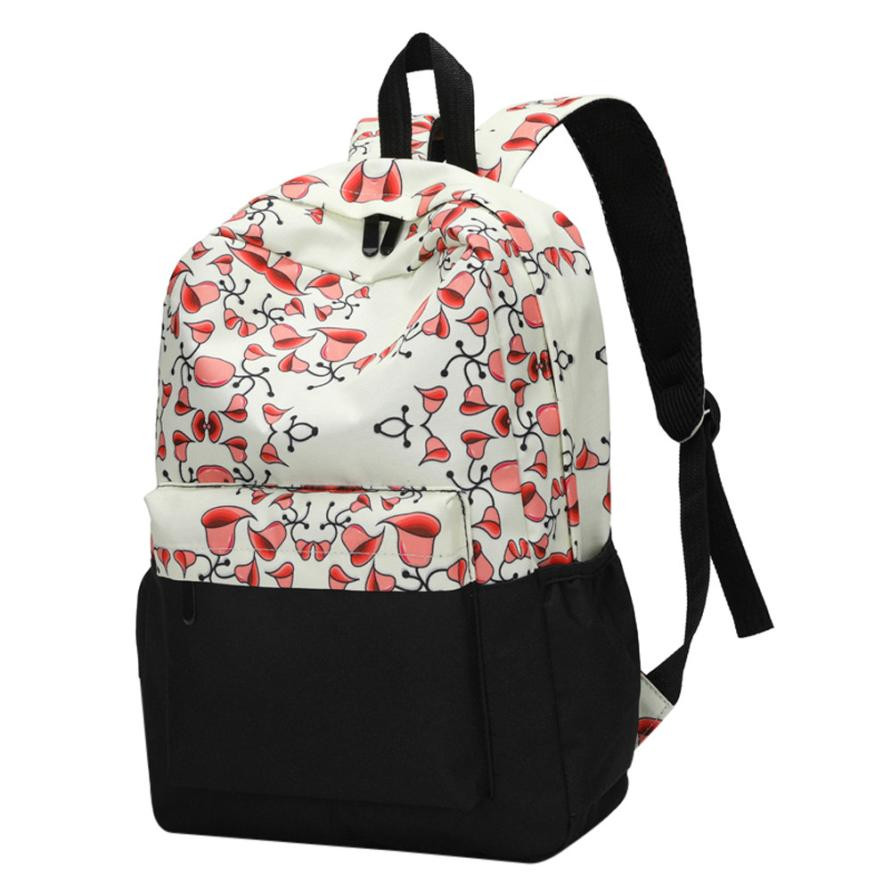Women Backpacks Floral Print Bookbag Female Travel Backpack Large Capacity School Backpack Zipper Shoulder Backpacks Rucksack#30
