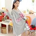 Chaqueta de felpa Mujeres de Primavera Sudadera Maternidad Suelta más Grasa Prendas de Vestir Exteriores Superior Ropa de Mujer Madre Canguro Maternidad