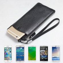"100% Genuine leather phone bag For iphone X 6s 7 8 Plus 8Plus XS Max wallet purse style Universal 1.0""~6"" cases(China)"