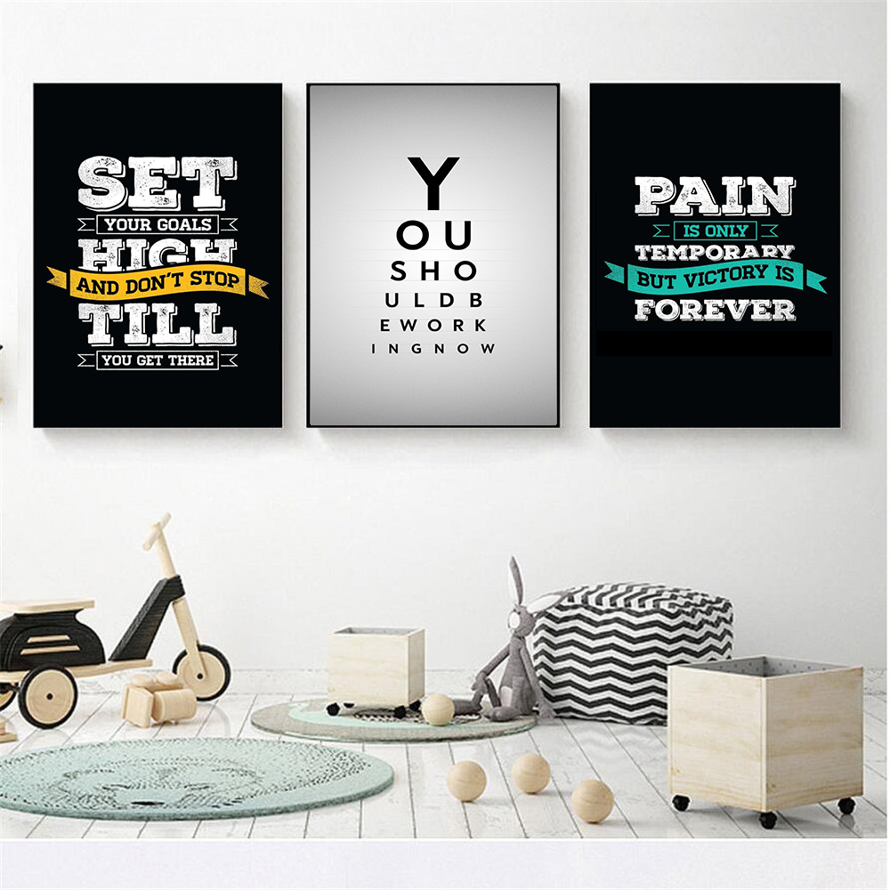Wall Art Quotes Poster about Work Bedroom Sayings Life Way ...