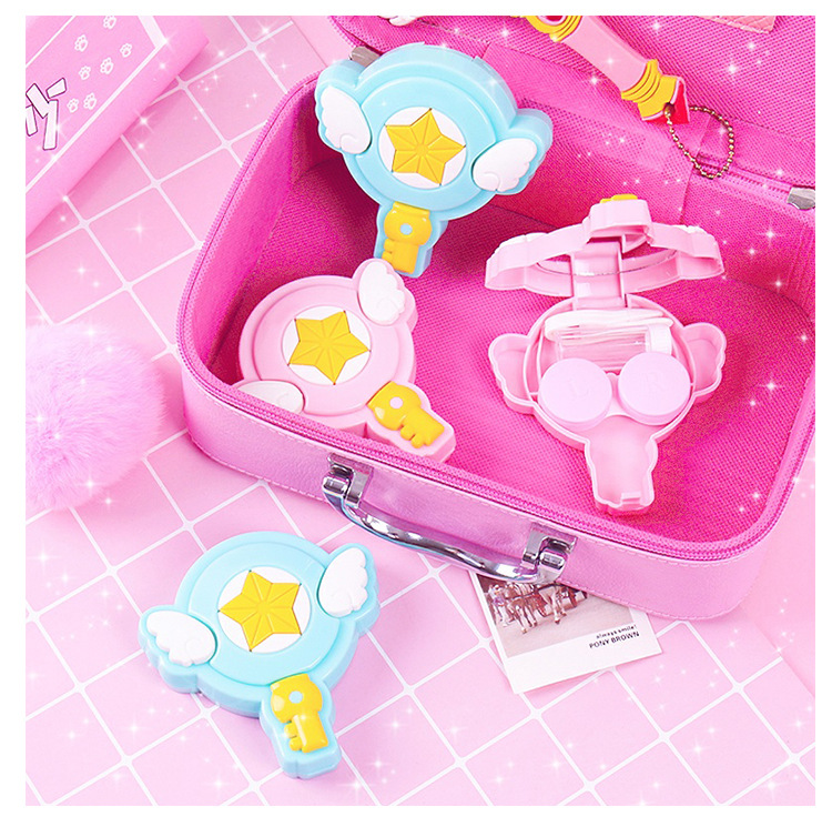 Eyewear Accessories Apparel Accessories Liusventina Girl Gift Cute Cardcaptor Sakura Magic Wand Contact Lens Case For Lenses Container With Mirror Box For Color Lenses