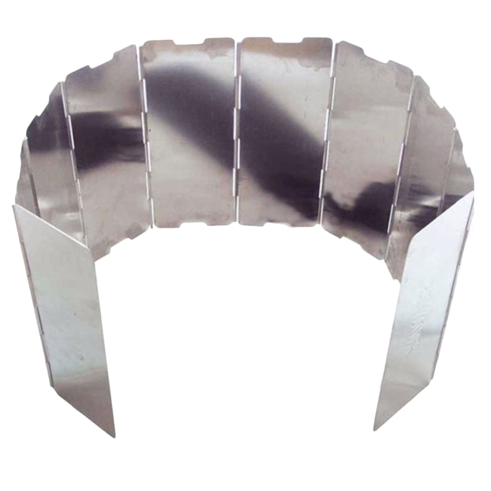 AOTU 10 Таблички открытый Алюминий Портативный складной плита Плита Кемпинг лобовое стекло Пикник winderscreen дефлектор ветра