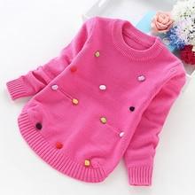 Chandails en tricot pour filles, pull chaud pour petits de 2 à 4 à 6 à 8 à 10 ans, haut de style coréen, hiver