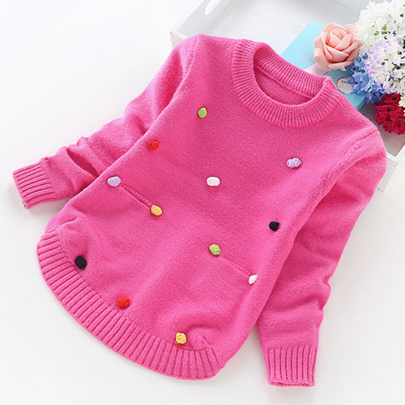 big girl sweaters winter girl sweaters 2 4 6 8 10 years toddler knitting pullovers top korean style cardigans warm kids-in Sweaters from Mother & Kids