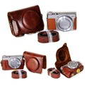 4 Colors Camera Bag Case PU Leather Case for Canon G9X Camera Skin Cover With Strap