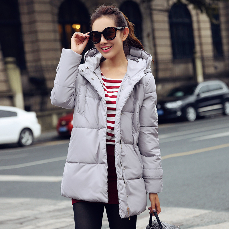 Winter New Down Jackets Women Warm Slim Long Paragraph Solid Color Thicker Fashion Hooded Female Down Coat Plus Size 2XL C515 цены онлайн