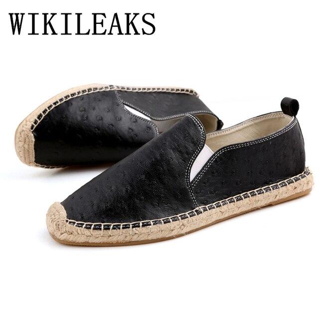 Sepatu kulit pria sepatu kasual arena sepatu italia mens sepatu merek mewah  espadrilles slip on flats aafb87b895