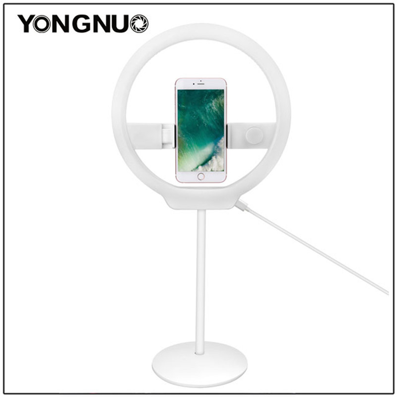 YONGNUO YN128 Selfie Ring Light Camera Photo Studio Phone 128 LED Ring Light 3200-5500K Photography Dimmable Ring Lamp Ringlight кольцо для селфи selfie ring light на батарейке белое