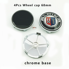 4pcs 68mm For Bmw car wheel hub logo cap auto center emblem cover label abs badge chrome base