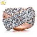 Hutang Aquamarine Gemstone Genuino Esterlina del Sólido 925 Silver Cross Anillo Para Mujer de La Joyería