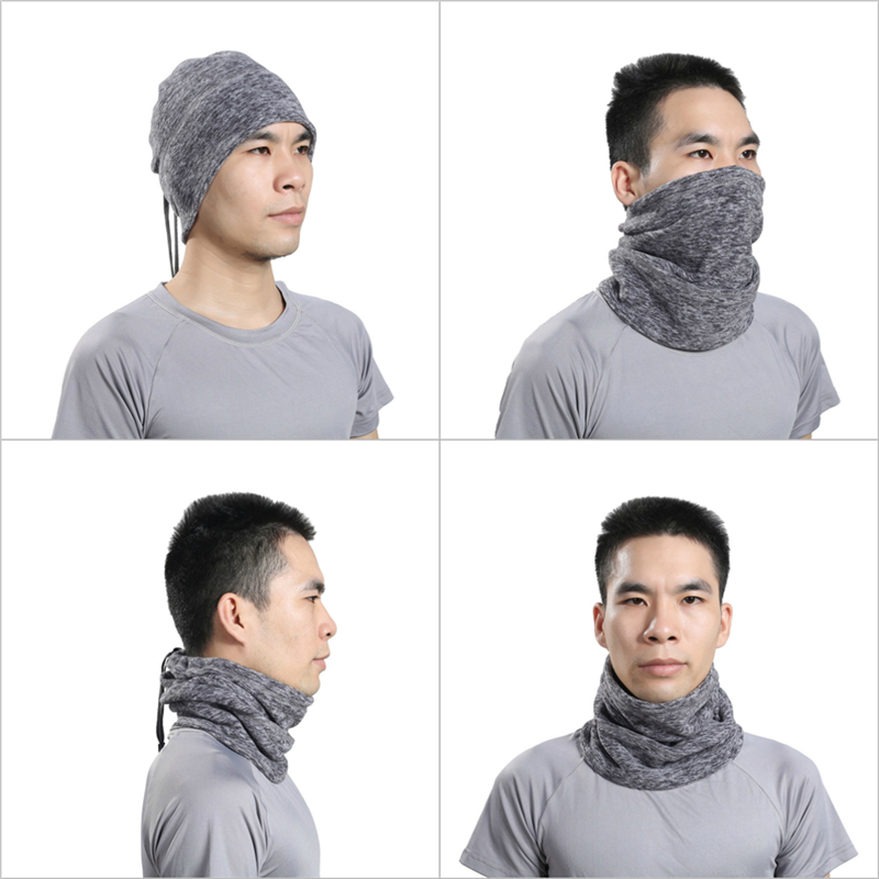 Fleece Sports Neckerchief Thickened Riding Hat Thermal Warm Scarf Ski Mask Cap Face Cover Beanie Balaclava Hood Multifunction jaisati winter outdoor riding windproof cap fleece hood cs hat mask thick warm snow cap dust mask