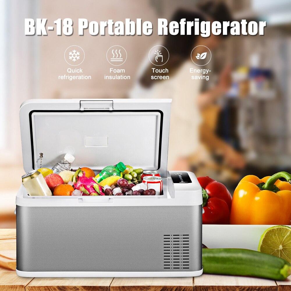 BK-18 автомобильный холодильник 18L AC/DC сумка-термос и морозильник сенсорный экран управление легко для перемещения дома Пикник Кемпинг Вечерн...