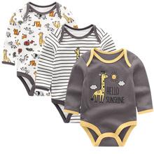 Baby Odzież 2019 Newborn kombinezony Baby Boy Girl Romper długi rękaw niemowląt Odzież O-Neck Baby produkt tanie tanio Dziecko Rompers Unisex kiddiezoom Kreskówki Przykryty przycisk Pasuje do rozmiaru Weź swój normalny rozmiar Bawełna