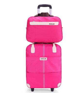 Women Travel Luggage Bag  Wheels Travel Trolley Bag Suitcase Travel Rolling Bag With Handbag Baggage Rolling Travel Wheeled Bag
