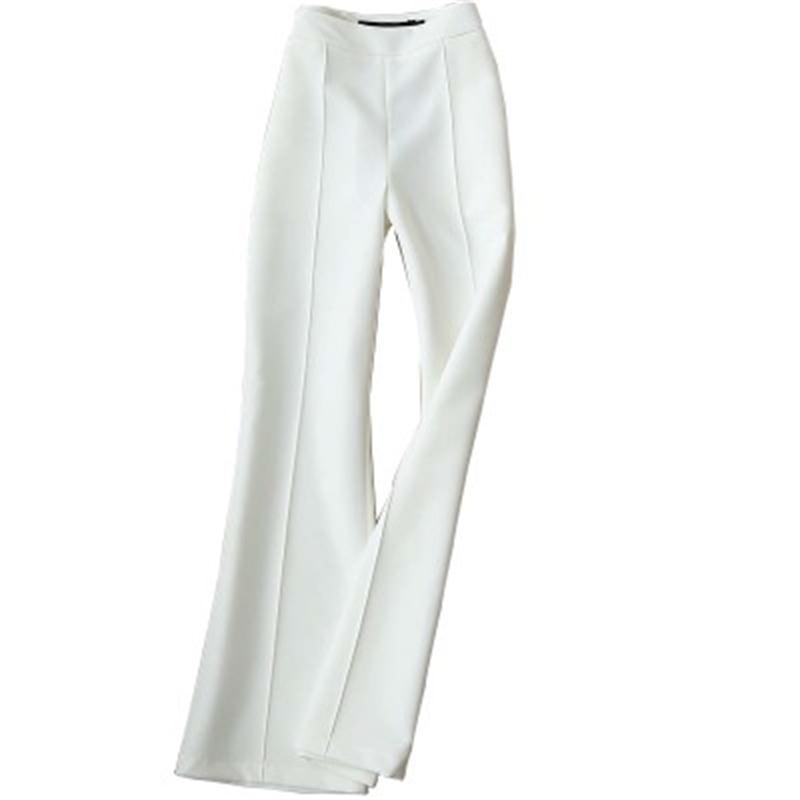 Casual Pants Female Summer New High-quality Micro-la Nine Pants White Fashion Large Size Flared Pants Women Pants