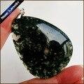 Envío de La Manera Joyería de Jade Natural Dendríticas Ágata de Musgo Piedra Gota Colgante de Collar de Regalo Eterno Para Novia GS400