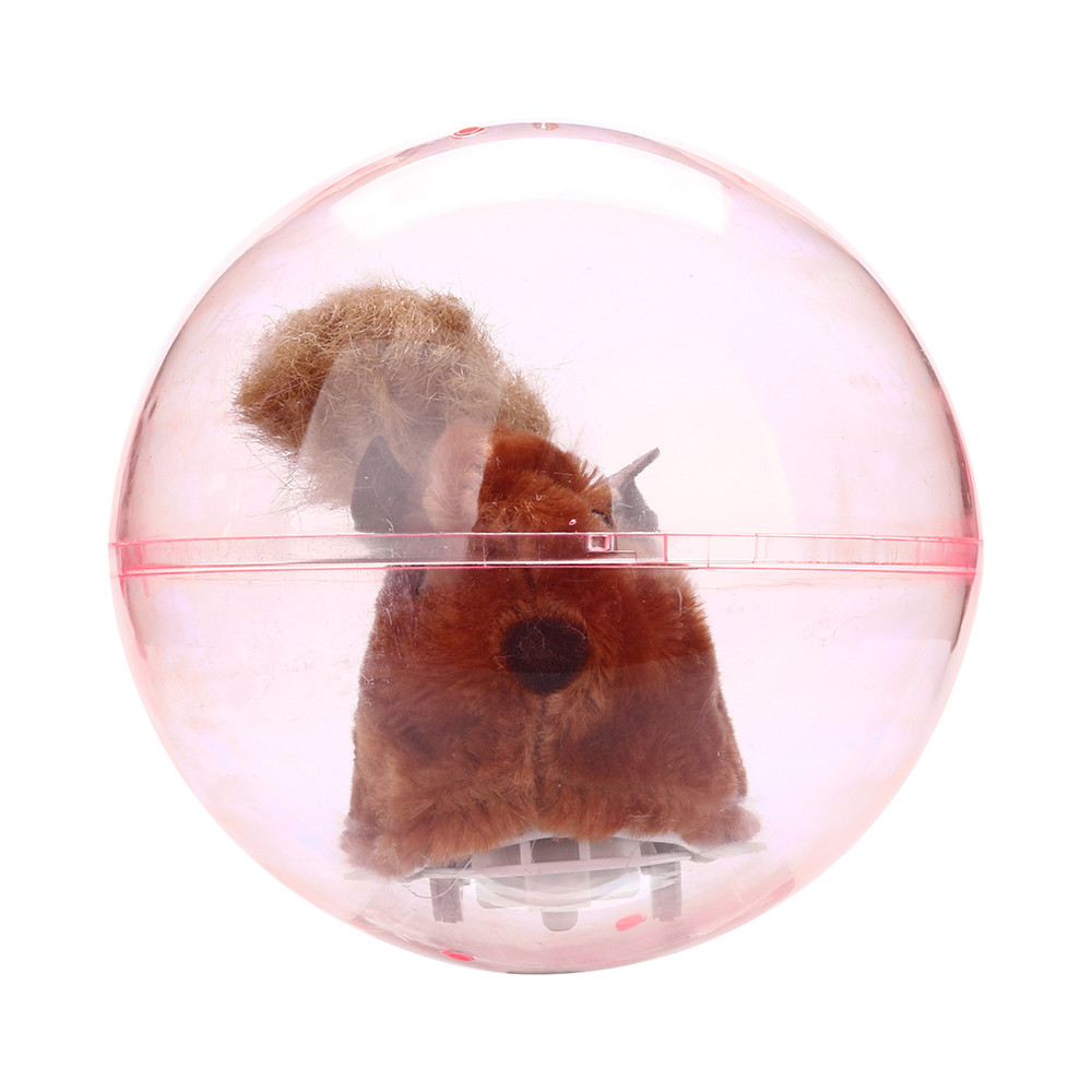 Electronic Plush Toys Running Hamster In A Ball Electric Plush Rolling Childrens Intelligence Toy Rolling Childrens Intelligence Toy #ty8.2