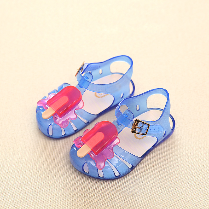 Mini Melissa New 3 Color Popsicle Girl Jelly Sandals Popsicle Ice Cream Baby Sandals Children Sandals Girl Water Shoes