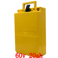 Gratis douane duty 60V 1500W 2000W lithium batterij 60V 20AH ebike batterij 60V 20AH elektrische fiets batterij met 50A BMS + 5A charger
