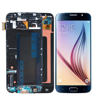 Original Super AMOLED 5.1'' For Samsung Galaxy S6 LCD Display Touch Screen Digitizer Assembly Frame For Samsung S6 Display G920F