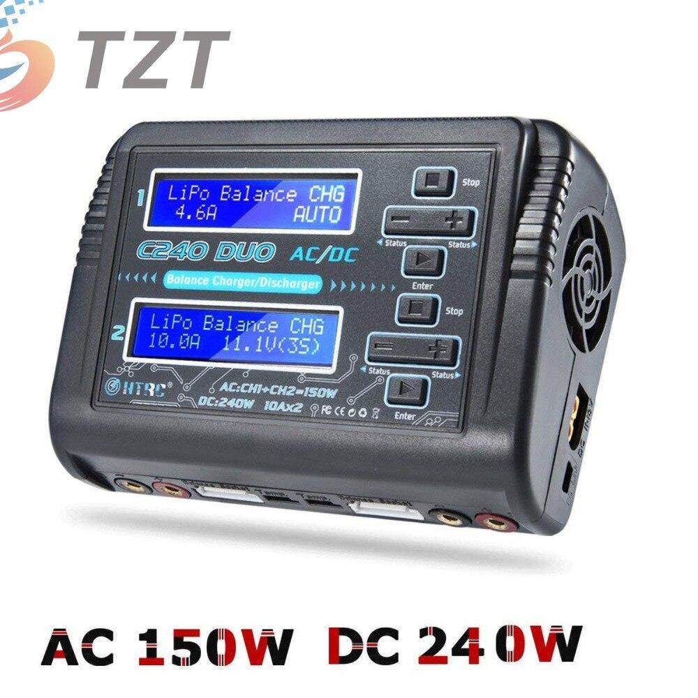 2018 HTRC C240 RC Équilibre de La Batterie Chargeur Double Canal pour RC Voiture 6 s Lipo NiMH Chargeur Déchargeur