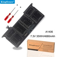 Kingsener New A1406 Laptop Battery for Apple MacBook Air 11 A1370 Mid 2011 A1465 2012 Version 020 7377 A 7.3V 35WH/4680mAh