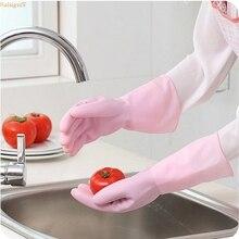 Saingace Водонепроницаемый латекса Перчатки для мытья посуды Прачечная по дому Хозяйственные перчатки G6916 Прямая поставка