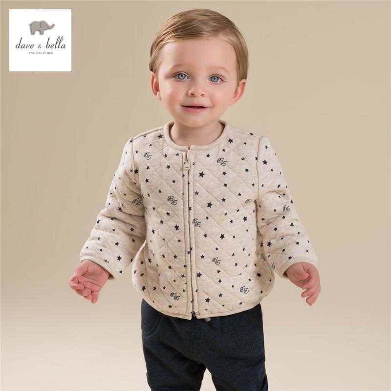 DB4273 B davebella autumn padded top basic jacket chilren coat kids clothes for boy