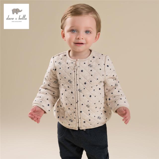 DB4273-B davebella otoño chaqueta acolchada top básico capa chilren niños ropa para el muchacho
