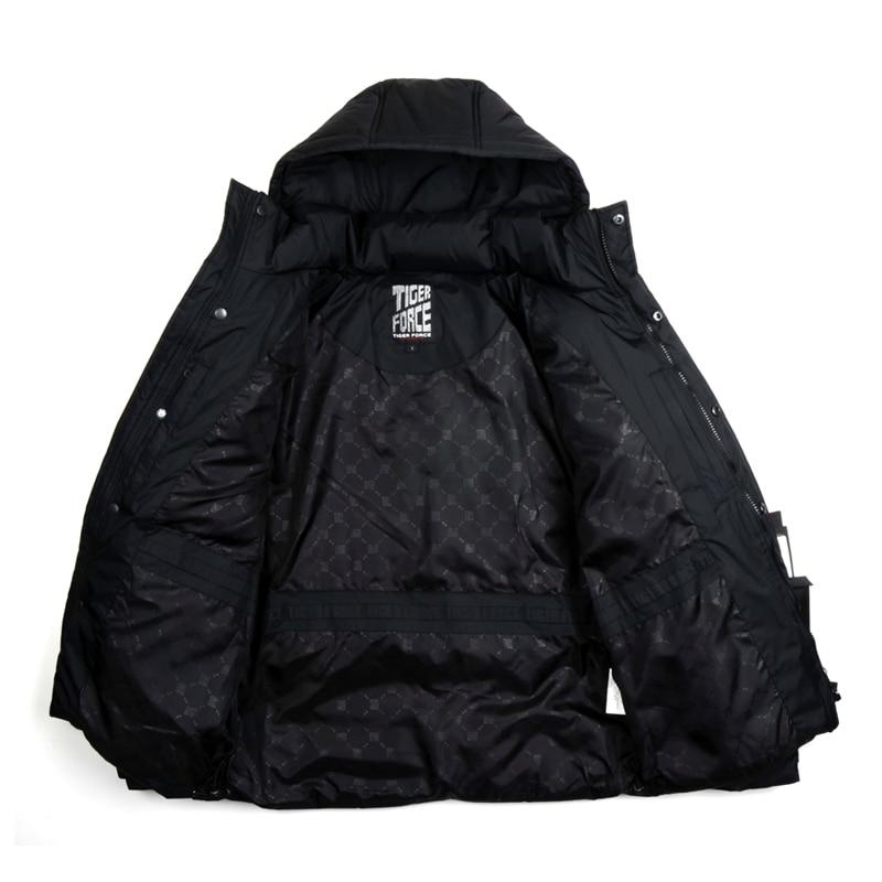 Тiger силу горячая распродажа мужчины белая утка пуховик зимнее стильное пуховое пальто парка с капюшоном бесплатная доставка d-265