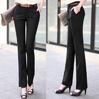 2016 Fashion Nieuwe Vrouwen broek straight/fakkels slanke hoge taille formele broek voor vrouw vrouwelijke plus size 26,27, 28,29, 30,31, 32,33