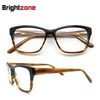 Free Shipping Latest Fashion Thick Acetate Men Eyeglasses Frame Spring Hinge Prescription Glasses Frame Oculos De