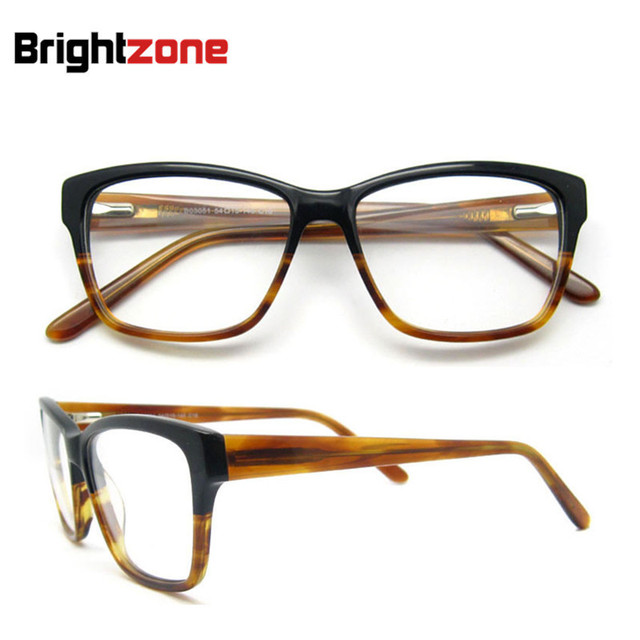 Gratis Pengiriman Terbaru Fashion Tebal Pria Kacamata Bingkai Musim Semi  Engsel Asetat Resep Kacamata Bingkai Oculos f908c0be6f