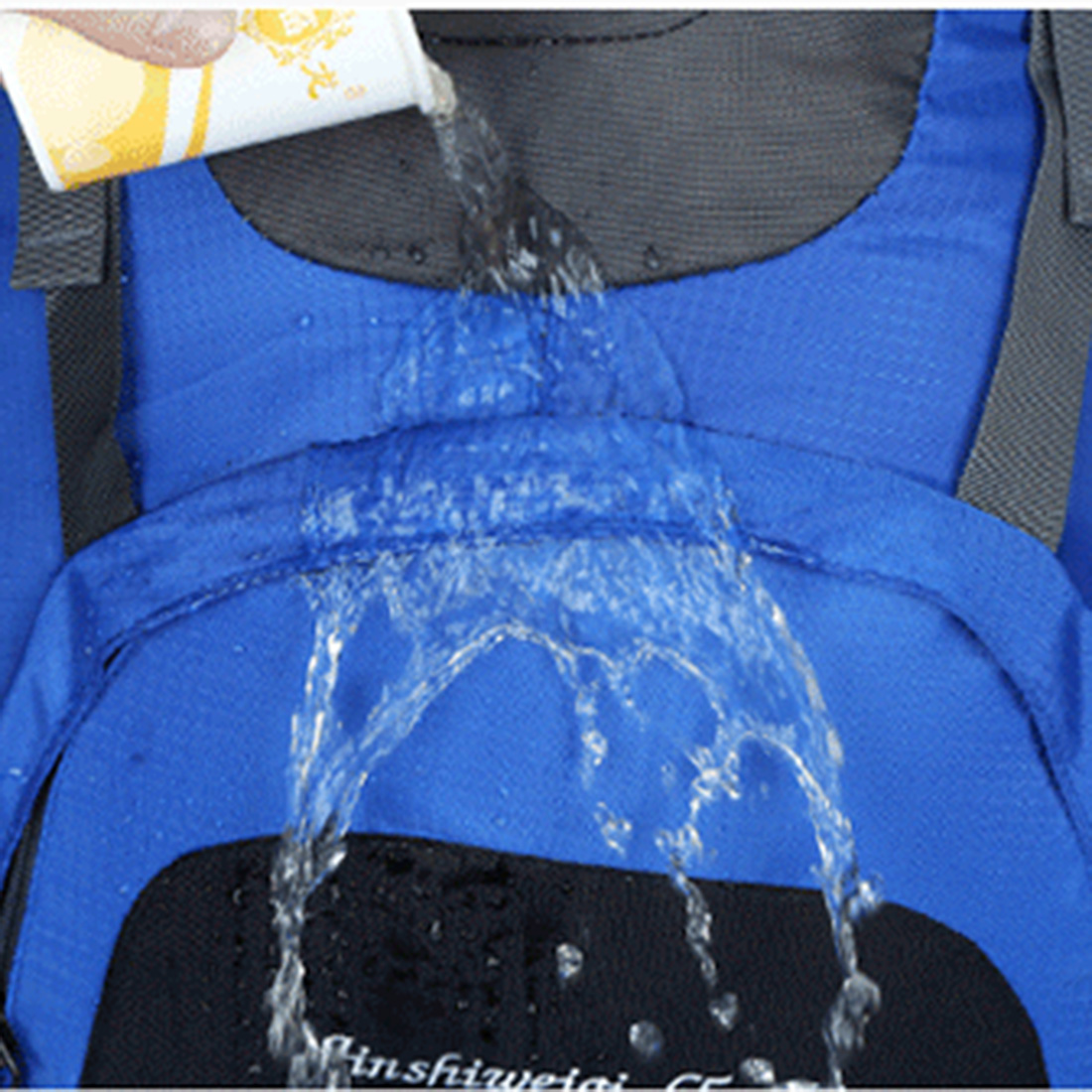 Waterproof test for the backpack