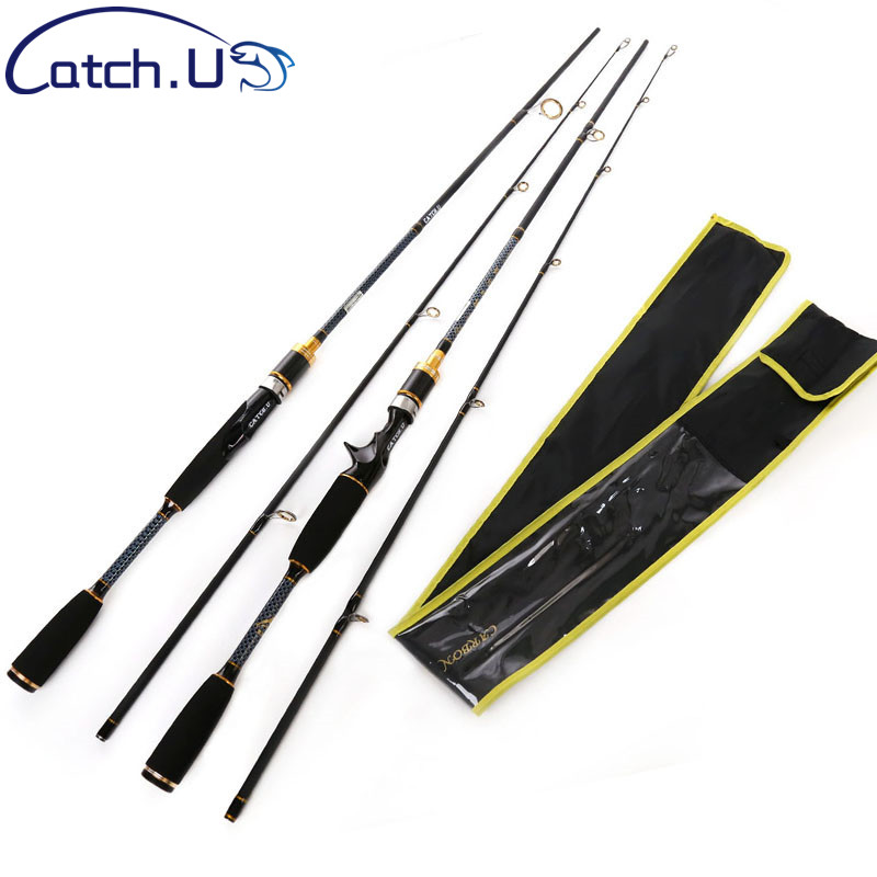 1.8M Casting Fishing Rod M Power 100% Carbon Lure Baitcasting Spinning Rod