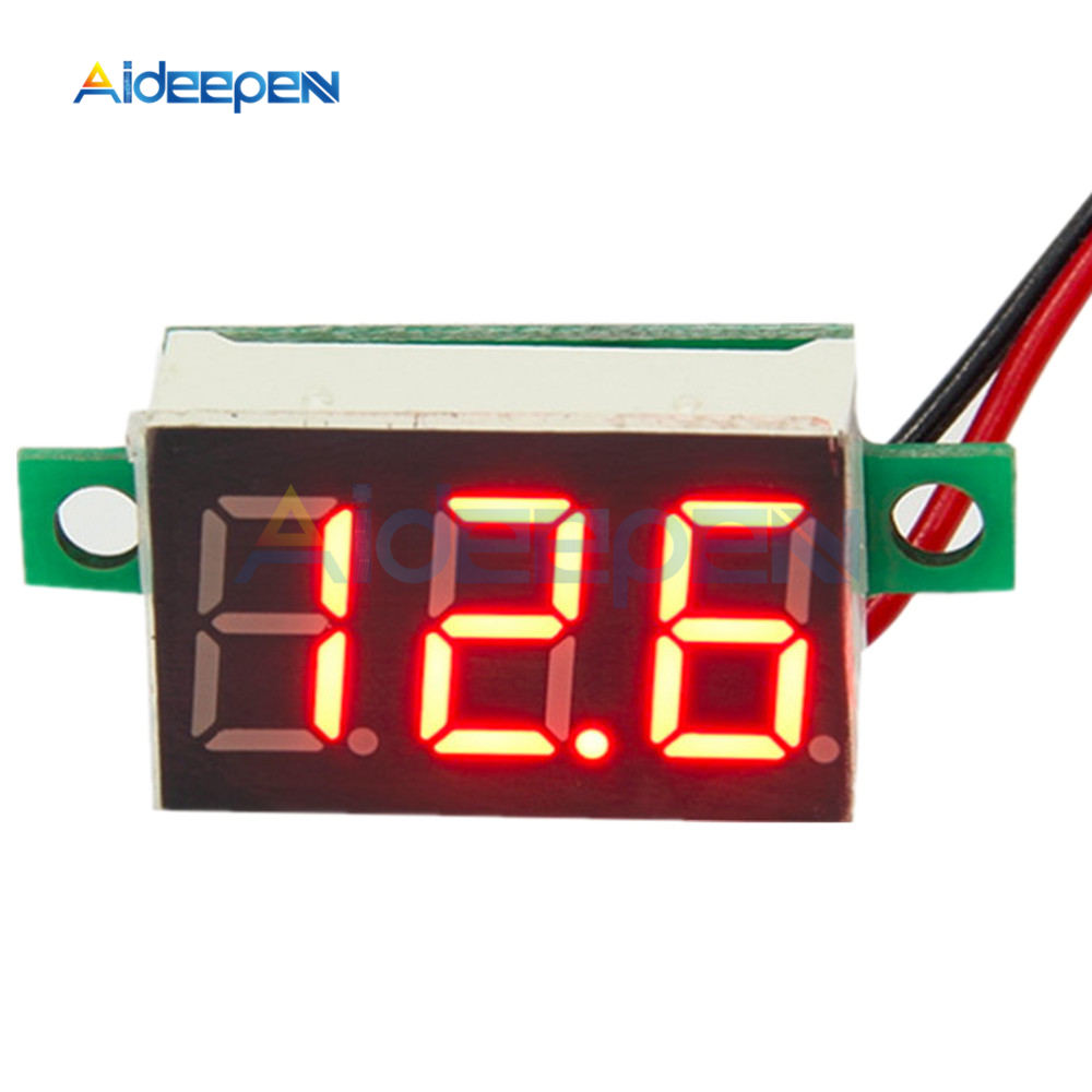 <font><b>0.36</b></font> Inch Mini <font><b>LED</b></font> Digital Voltmeter Red Panel Voltage Meter DC 4-30V 3-Digit Display Adjustment Voltmeter image