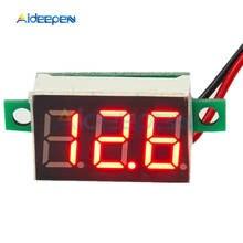 0.36 Polegada mini led digital voltímetro painel vermelho medidor de tensão dc 4-30v 3 dígitos de ajuste de exibição voltímetro