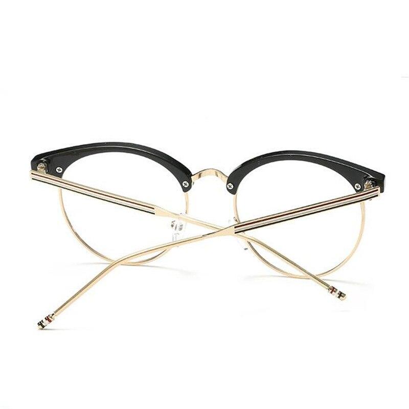 Moda 2018 Vidrios Ópticos Marco Mujeres Hombres Vintage Ajuste Para ...
