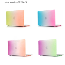 NEW Laptop Case For Apple Macbook Air Pro Retina 11 12 13 15 inch with Touch Bar Rainbow Frosted Surface Matte Hard Cover Case