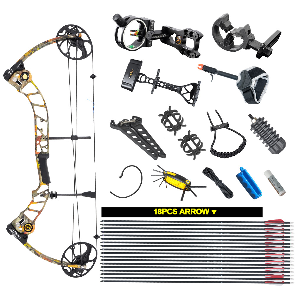 Topoint Archery Compound bow package T1 CNC milling Bow Riser 19 30in draw length 19 70lbs