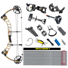 Compound bow package,T1,CNC milling Bow Riser,19-30in draw length,19-70lbs draw weight,320fps IBO one set archery camouflage compound bow with draw weight 20 70lbs perfect hunting bow
