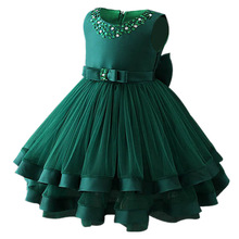 Baby Girls Party Dress 2018 Elegant Girl Evening Dress For Wedding Birthday Kids Dresses For 2 to 10 yeas Girls Clothes