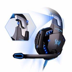 Image 4 - KOTION каждая игровая гарнитура Casque глубокий бас игровые стереонаушники с микрофоном светодиодный свет для PS4 ноутбука PC Gamer