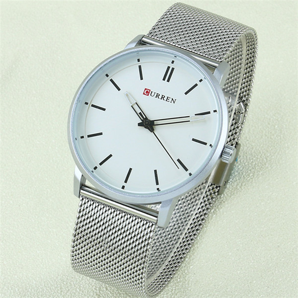 Fashion Top Luxury brand CURREN Watches men Stainless Steel Mesh strap Quartz-watch Ultra Thin Dial Clock man relogio masculino new fashion brand round dial black couple watch men luxury stainless steel casual quartz watches relogio masculino clock hot