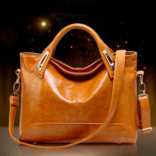 2016 in Europe and America brand counters foreign oil wax leather shoulder bag handbag multi-functional female bag
